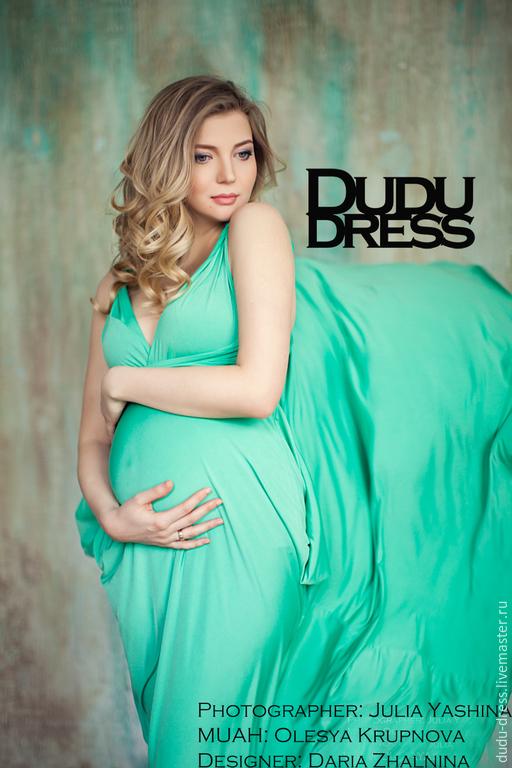 Платья ручной работы. Ярмарка Мастеров - ручная работа. Купить Платье-трансформер мятное. Handmade. Мятный, зеленое платье, беременные