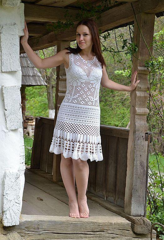 Dresses handmade. Livemaster - handmade. Buy Crochet boho dress 'flower garden'.Crochet, knit dress, dress summer