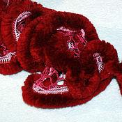 Аксессуары ручной работы. Ярмарка Мастеров - ручная работа Рюшечный шарфик с мехом. Handmade.