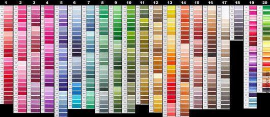 Мулине СХС (цвета DMC) полный набор 447 цветов