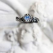 Украшения handmade. Livemaster - original item Thin engagement ring with moonstone