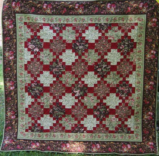 Текстиль, ковры ручной работы. Ярмарка Мастеров - ручная работа. Купить Плед. Handmade. Разноцветный, лоскутное одеяло, хлопок