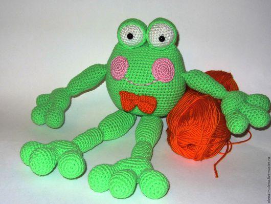 Игрушки животные, ручной работы. Ярмарка Мастеров - ручная работа. Купить Лягушенок Квак. Handmade. Зеленый, лягушка игрушка, подарок