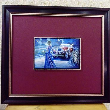 Картины и панно ручной работы. Ярмарка Мастеров - ручная работа Настенное панно,, Ночной блюз `` финифть. Handmade.