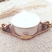 Для дома и интерьера handmade. Livemaster - original item Candlestick Winged leopard, metal, bronze. Handmade.