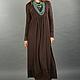 Платья ручной работы. Ярмарка Мастеров - ручная работа. Купить Vacanze Romane-1006. Handmade. Коричневый, стильное платье