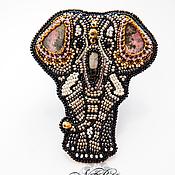 Украшения ручной работы. Ярмарка Мастеров - ручная работа Брошь-слон. Handmade.