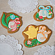 Set of Easter cakes with cyplenka. Gingerbread Cookies Set. prynik. My Livemaster. Фото №5
