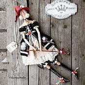 Куклы и игрушки ручной работы. Ярмарка Мастеров - ручная работа кукла тильда ручной работы ВЕДЬМОЧКА. Handmade.