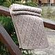 Зимний вязаный мужской шарф. Возможно изготовление на заказ любого размера и любого цвета.