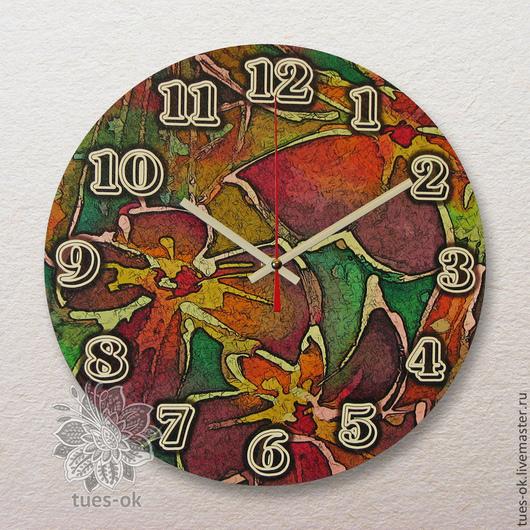 """Часы для дома ручной работы. Ярмарка Мастеров - ручная работа. Купить Часы настенные """"Витраж"""". Handmade. Часы настенные, стрелки"""
