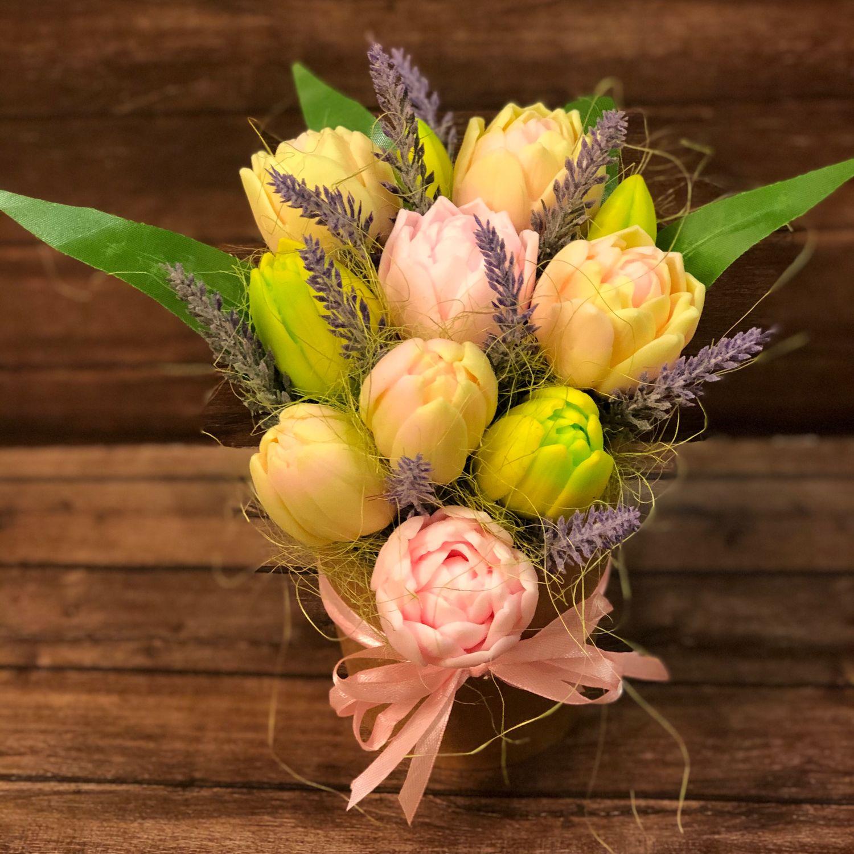 Букет из мыла ручной работы Весенние цветы, Мыло, Москва,  Фото №1