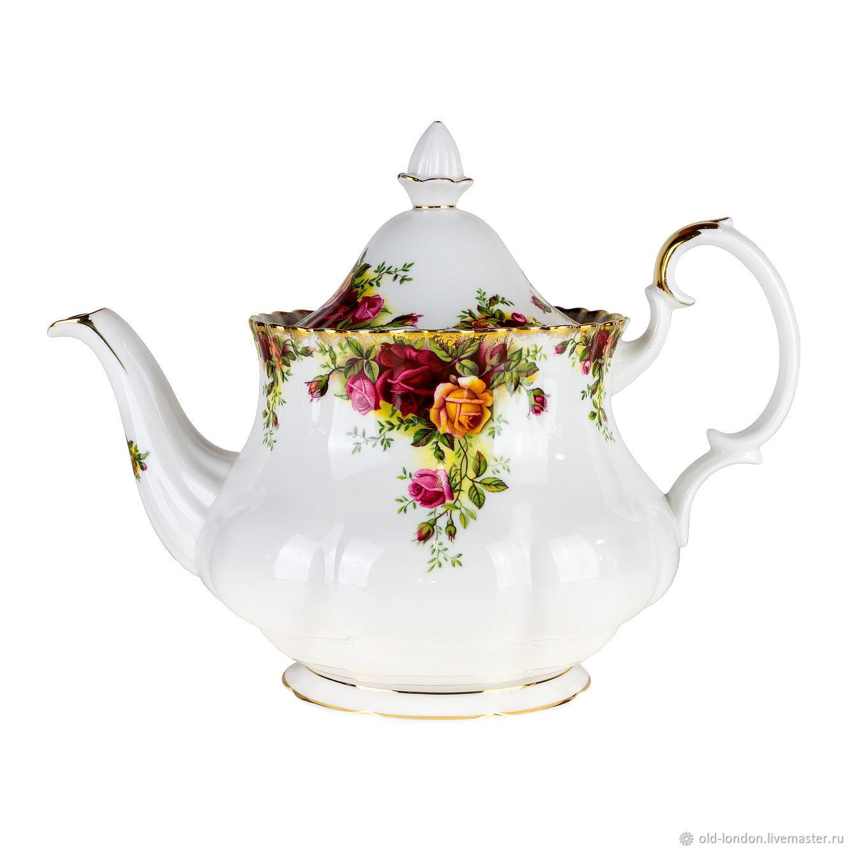 Винтаж: Большой заварочный чайник Old Country Roses фарфор Royal Albert, Сервизы винтажные, Санкт-Петербург,  Фото №1