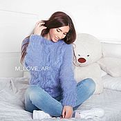 Одежда handmade. Livemaster - original item Knitted mohair sweater. Handmade.