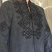 Рубашки ручной работы. Ярмарка Мастеров - ручная работа Мужская вышитая рубашка МР3-61. Handmade.