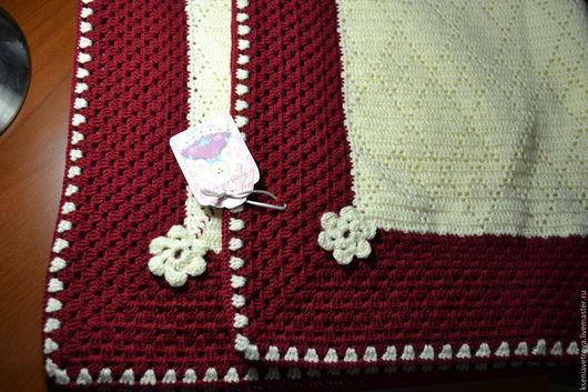 Пледы и одеяла ручной работы. Ярмарка Мастеров - ручная работа. Купить Плед для малышки.. Handmade. Белый, плед детский
