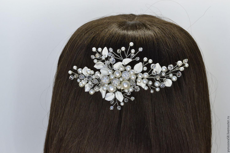 Свадебное украшение для волос мастер класс