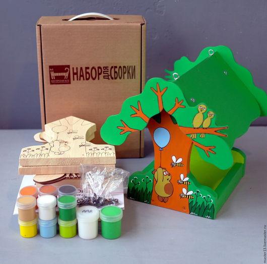 """Развивающие игрушки ручной работы. Ярмарка Мастеров - ручная работа. Купить Кормушка для птиц """"Винни-Пух"""" (набор-конструктор с красками). Handmade."""