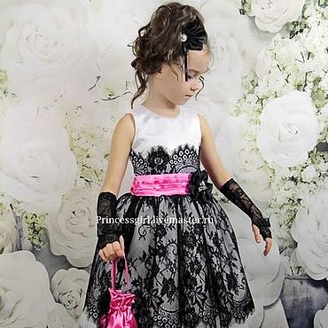 """Работы для детей, ручной работы. Ярмарка Мастеров - ручная работа Платье для девочки """"Габриэлла"""". Handmade."""