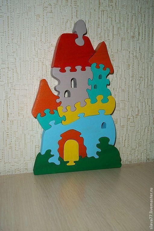 """Развивающие игрушки ручной работы. Ярмарка Мастеров - ручная работа. Купить Деревянный пазл """"Замок"""". Handmade. Дерево, деревянная игрушка"""