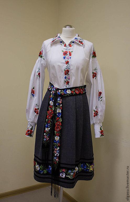 Пояс женский с вышивкой, Пояса, Винница, Фото №1