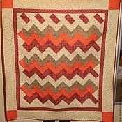 """Для дома и интерьера ручной работы. Ярмарка Мастеров - ручная работа одеялко  лоскутное  """"Лучики"""". Handmade."""