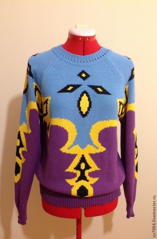 """Кофты и свитера ручной работы. Ярмарка Мастеров - ручная работа. Купить Кофта """"узор 3"""". Handmade. Разноцветный, кофта с рисунком"""