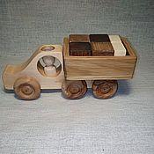 handmade. Livemaster - original item Wooden car truck with cubes. Handmade.
