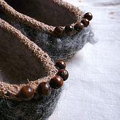 """Обувь ручной работы. Ярмарка Мастеров - ручная работа Валяные тапочки """"Ягодными тропами.."""". Handmade."""