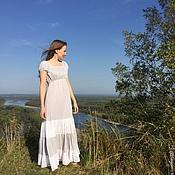 Одежда ручной работы. Ярмарка Мастеров - ручная работа Платье хлопковое нижнее для кормящей мамы. Handmade.