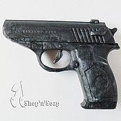 """Косметика ручной работы. Ярмарка Мастеров - ручная работа Мыло """"Пистолет"""" 3D подарок мужчине. Handmade."""