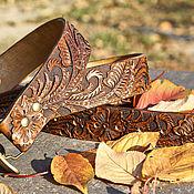 Straps handmade. Livemaster - original item Leather belt