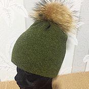 Аксессуары handmade. Livemaster - original item Double knitted hat 100% cashmere. Handmade.
