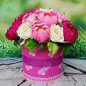 Цветы и флористика ручной работы. Ярмарка Мастеров - ручная работа Пионы в букете из конфет. Handmade.