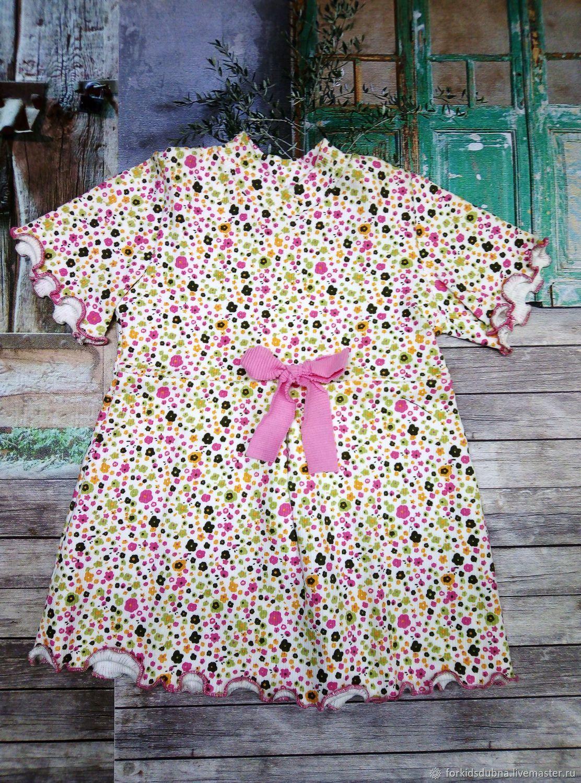 Платье с коротким рукавом (кашкорсе)