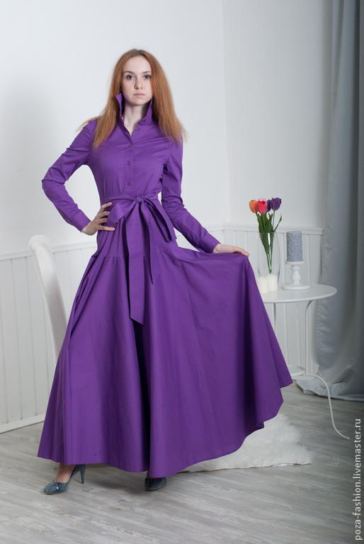Платья ручной работы. Ярмарка Мастеров - ручная работа. Купить платье Ирис. Handmade. Фиолетовый, фиолетовое платье, лавандовый