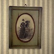 Сувениры и подарки ручной работы. Ярмарка Мастеров - ручная работа Фоторамка оливковая деревянная Рамки со стеклом. Handmade.