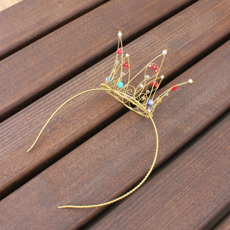 Корона на ободке из латунной проволоки, Диадемы, Санкт-Петербург,  Фото №1