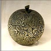 """Для дома и интерьера ручной работы. Ярмарка Мастеров - ручная работа шкатулка деревянная резная """"Яблоко"""". Handmade."""