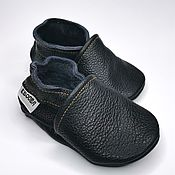 Работы для детей, handmade. Livemaster - original item Baby Moccasins, Baby Slippers, Black baby shoes,Ebooba. Handmade.