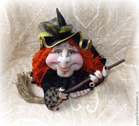 Подарки на Хэллоуин ручной работы. Ярмарка Мастеров - ручная работа. Купить Ведьмочка (попик). Handmade. Хелоуин, баба яга, синтепон
