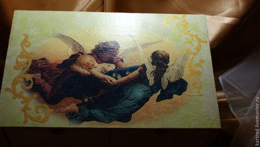 Мини-комоды ручной работы. Ярмарка Мастеров - ручная работа. Купить комодик,,Ангелы с тобой,,-20%. Handmade. Салатовый, ангелы