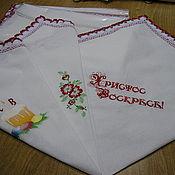 Для дома и интерьера ручной работы. Ярмарка Мастеров - ручная работа платок для кулича. Handmade.