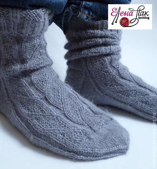 Носки, Чулки ручной работы. Ярмарка Мастеров - ручная работа. Купить Мужские носки из альпаки с шёлком. Handmade. Носки