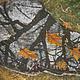 Пейзаж ручной работы. Ярмарка Мастеров - ручная работа. Купить Картина Зеркало Осени на хб ткани в технике горячего батика. Handmade.