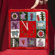 Часы ручной работы. Ярмарка Мастеров - ручная работа Часы Новогодние лесные. Handmade.