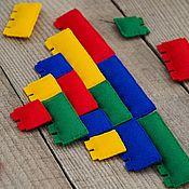 Куклы и игрушки ручной работы. Ярмарка Мастеров - ручная работа Конструктор  Lego из фетра. Handmade.