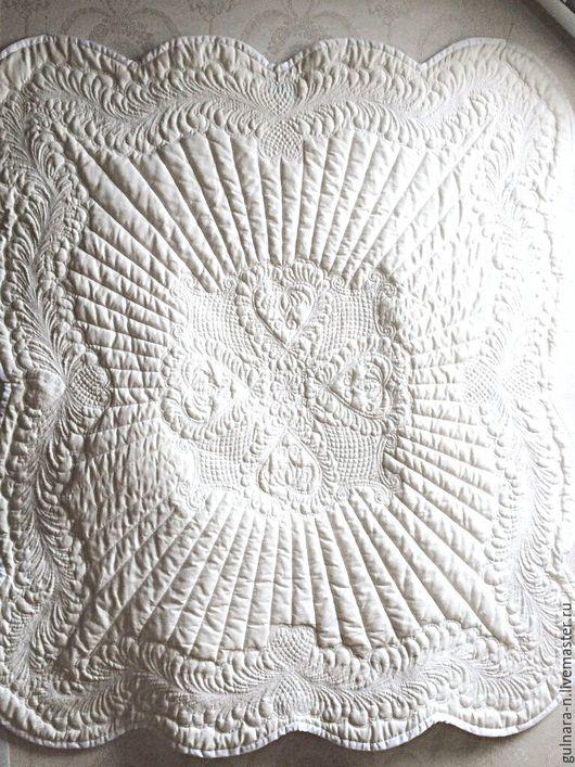 """Для новорожденных, ручной работы. Ярмарка Мастеров - ручная работа. Купить Одеяло """"Снежное"""". Handmade. Белый, одеяло, плед, Декор"""