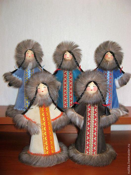 Народные куклы ручной работы. Ярмарка Мастеров - ручная работа. Купить Кукла Северяночка, велюр. Handmade. Кукла ручной работы