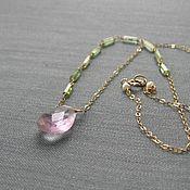 """Украшения ручной работы. Ярмарка Мастеров - ручная работа Колье """"Lilac petal"""". Handmade."""